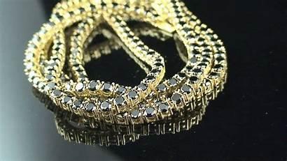 Chain Iced Row Diamonds Gold Custom Lab