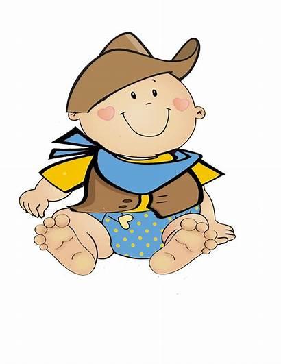 Shower Cowboy Clip Clipart Babies Boy Below