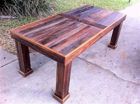wood patio table reclaimed cypress patio table by stephenschaad