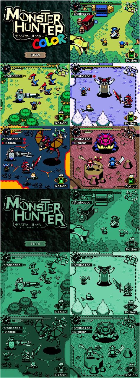 Monster Hunter In Game Boy And Game Boy Color In 2019