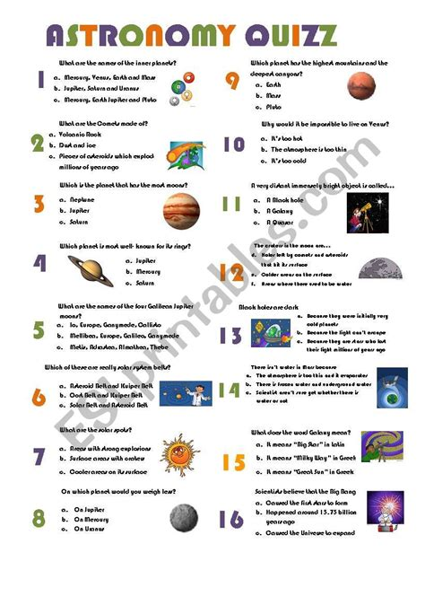 astronomers for worksheet astronomy quizz esl worksheet by muarez