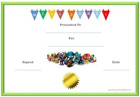 certificates  kids certificate templates