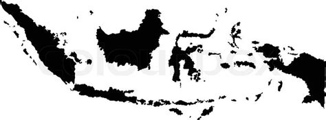 vector illustration  maps  indonesia stock vector