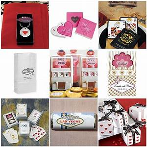 las vegas wedding favors gambling on love things With las vegas wedding theme ideas