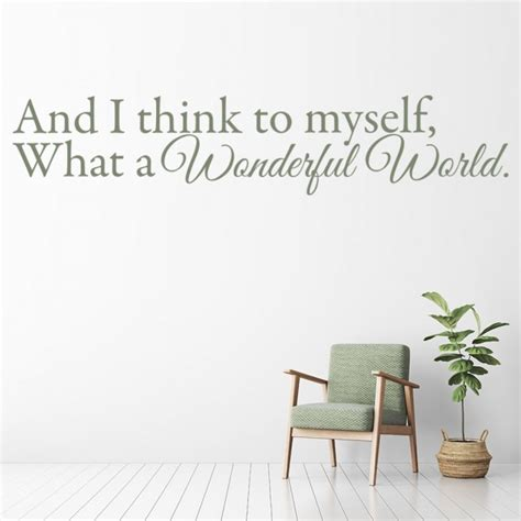 Bedroom Wall Stickers Lyrics by Louis Armstrong Wall Stickers Wonderful World Wall