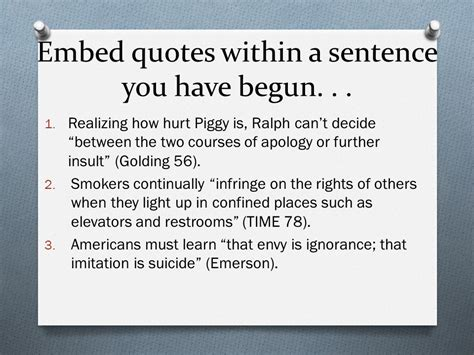 Embedding Quotes Also Known As  Ppt Video Online Download