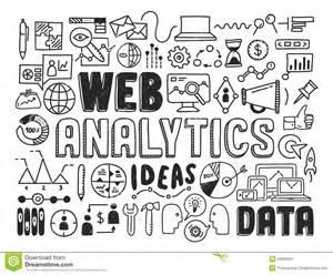Web Analytics Doodle Elements Stock Vector