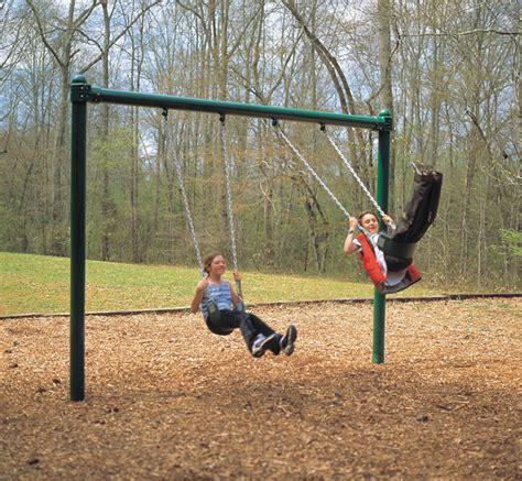 2 Seat 8' Single Post Swing