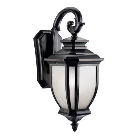 2 light outdoor wall sconce kichler lighting 9040bk salisbury 1 light outdoor wall