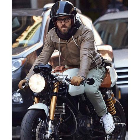 brown biker style biker ryan reynolds brown leather jacket prostarjackets