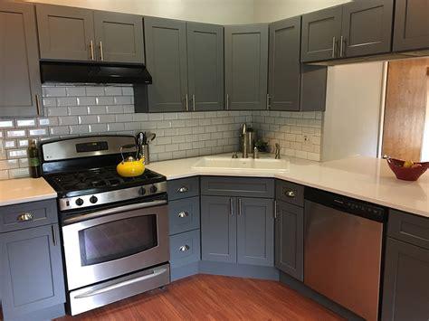 grey shaker cabinets kitchen buy shaker gray rta ready to assemble kitchen cabinets