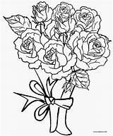 Coloring Roses Rose Printable Cool2bkids sketch template