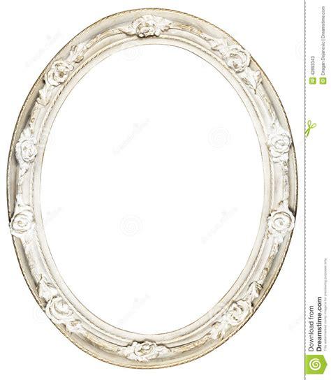 cadre baroque ovale blanc photo stock image 42893343