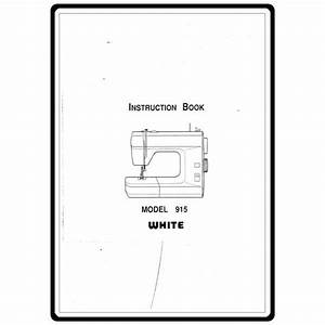 Instruction Manual  White 915   Sewing Parts Online