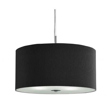 2356 60bk 3 light black drum pendant