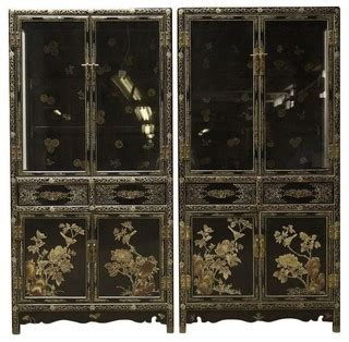 cabinet shelving kitchen pre owned vintage regency chinoiserie china a 6516
