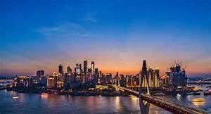 Chongqing Night Skyline editorial stock photo. Image of ...