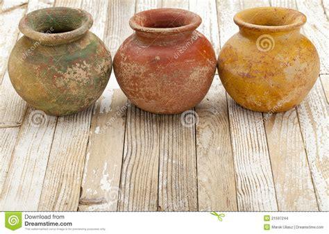 rustic clay pots stock photo image  ceramic clay