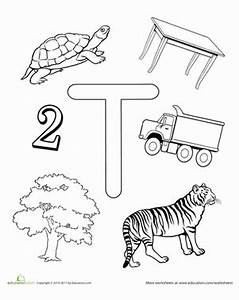 T Is For... | Worksheet | Education.com
