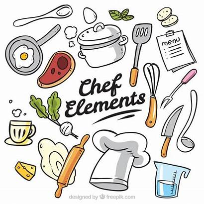 Cook Vectors Chef Vector Items Hand Drawn