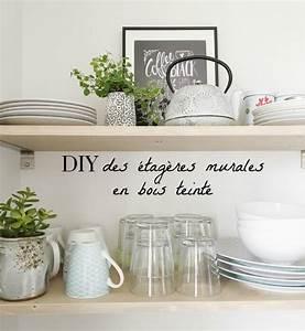Etagere Murale Pour Cuisine : etageres murales cuisine je vous propose un tutoriel pour ~ Dailycaller-alerts.com Idées de Décoration