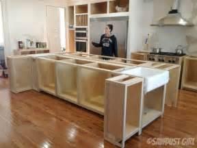 building kitchen island kitchen island sawdust