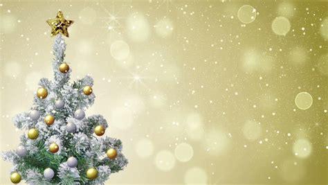 christmas tree  gold glitter stock footage video