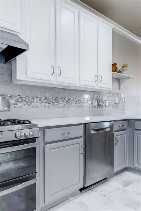 Grey Subway Tile With White Cabinets - Imanisr.com