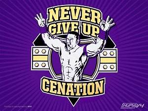 COOL IMAGES: john cena logo never give up
