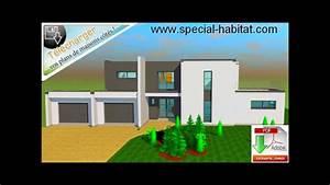 Plans-de-maison-moderne Com - Vue 3d