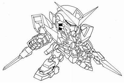 Gundam Coloring Pages Sd Sketch Colouring
