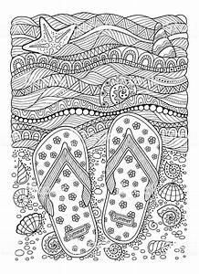 Besteht Sand Aus Muscheln : livre de coloriage pour adulte plage de la mer des ~ Kayakingforconservation.com Haus und Dekorationen