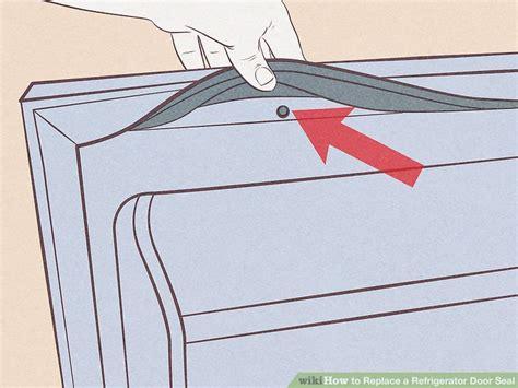 replace  refrigerator door seal  steps  pictures