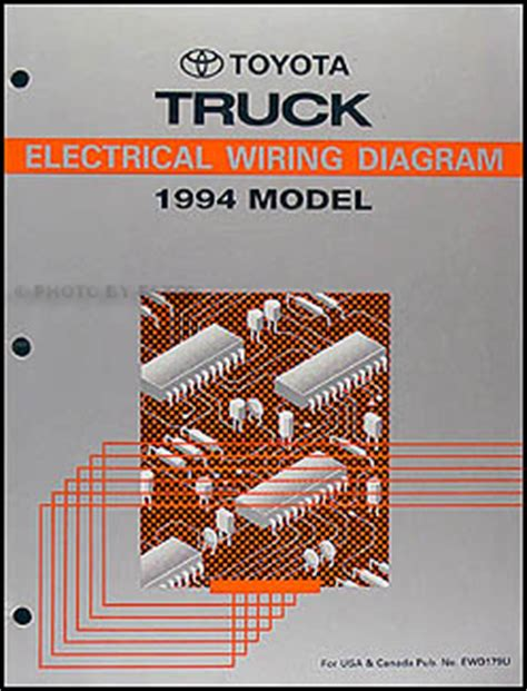 Toyota Pickup Truck Wiring Diagram Manual Original