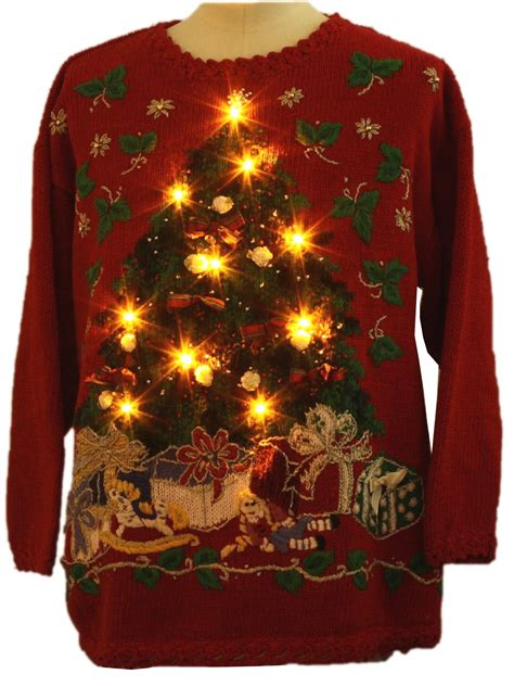 ugly light up christmas sweaters cheap clothing stores