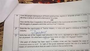 Social Studies Sample Paper 2018