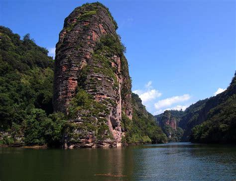 discover  dajin lake  sanming  danxia landscape