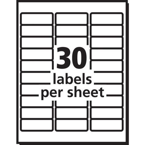 Avery Labels 8460 Template by Avery Avery Easy Peel Address Label For Inkjet Printers
