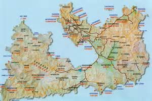 Milos Island Greece Map