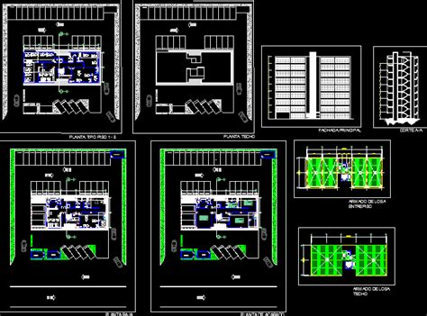 office building  autocad  cad   mb