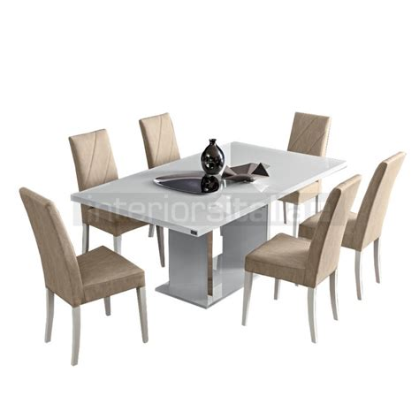 lisa high gloss dining table white on sale now