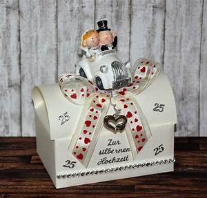 Hochzeitstag Geschenk Selber Machen : geldgeschenke geldgeschenk zur silber hochzeit geschenkbox ein designerst ck von xawega ~ Frokenaadalensverden.com Haus und Dekorationen