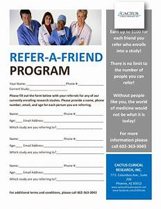 cactus clinical research refer a friend With refer a friend email template