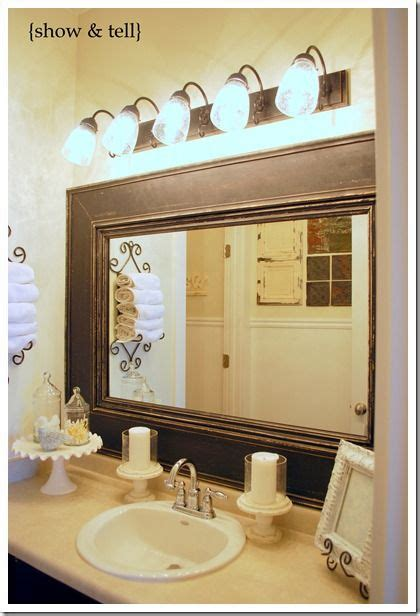 Builder Grade Bathroom Mirror by Bathroom Update Framed Builder Mirror Cakes