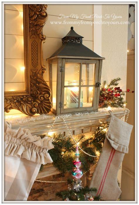 farmhouse christmas mantel stonegable