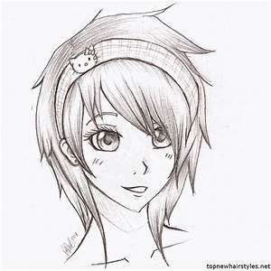 Anime Hairstyles For Girls Sketch | Art | Pinterest ...