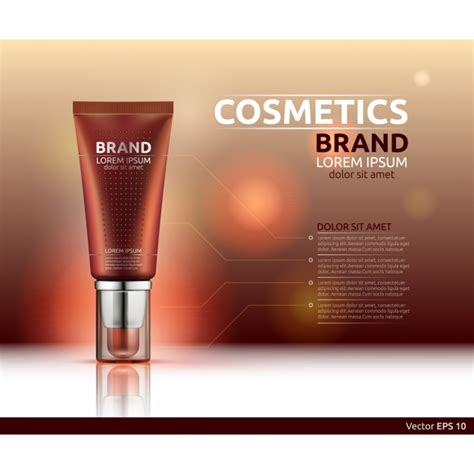 cosmetic brand template vector