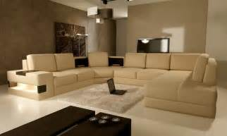 modern living room with brown color d s furniture