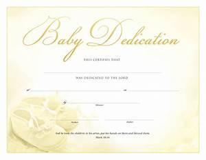 certificate of dedication certificates church With baby dedication certificates templates
