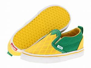 Vans Kids Slip V Toddler Pineapple Vibrant Yellow
